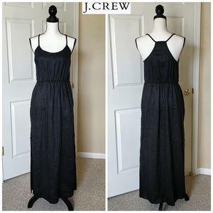 J. Crew black linen maxi dress sz M